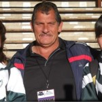 Jo-Ane Van Dyk, COACH Vic La Grange and Zane Fourie.
