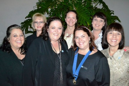 GRLC 2012 Committee:  Back row f.l.t.r. – Rochelle Barnard (Member), Petro Holtzhausen (Groupie), Elsje Liebenberg (Treasurer), Elainne Bouwer (Social Officer) and Renelle Williams (Secretary).  Front row f.l.t.r – Elizabeth Theron (Vice Chairlady) and Michélle Jacobsz (Chairlady)