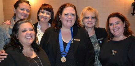 GRLC 2013 Committee:  Back row f.l.t.r – Elsje Liebenberg (Social Officer), Elainne Bouwer (Vice Chairlady), Petro Holtzhausen (Groupie).  Front row f.l.t.r – Rochelle Barnard (Treasurer), Elizabeth Theron (Chairlady) and Michélle Jacobsz (Secretary)