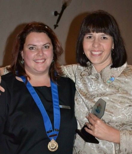 – GRLC Circler of the year 2012 - Michélle Jacobsz (Chairlady 2012) with Renelle Williams