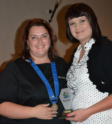 Michélle Jacobsz (Chairlady 2012) with Elainne Bouwer