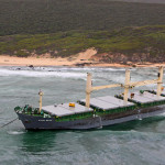 Grounded ship towed to safety