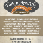 CT Folk n Acoustic Music Festival  2014 - more artists added to line up