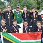 Oakdale toutrekspan verteenwoordig SA, wêreld kampioene