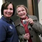 Helen Zille buys her Casual Day sticker