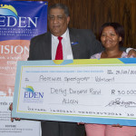 Eden Executive Mayor hands over cheques to the value of R198 000 to organisations