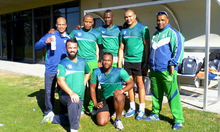 Present at the SWD fitness training session for the new season were Erinn Ewerts, Siyabonga Booi, Lonwabo Rodolo, Marcello Piedt and Deon Smith (Head Coach).  In the front are Waldo Lategan and Siya Simetu