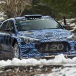 Hyundai's new rally car on display at Frankfurt Motor Show