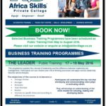 Africa Skills presents The Leader Public Training 17-19 May 2016