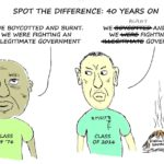 Cartoon - Spot the Difference: 40 Years On