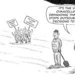 Cartoon - FeesMustFall Outsourced