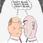 Cartoon - Abrahams vs Gordhan