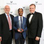 The Tsogo Sun Entrepreneur of the Year winner announced