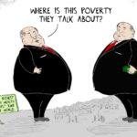 Cartoon - Blinded by Wealth