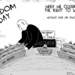 Cartoon - Freedom Day.  Zuma-Style
