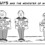 Cartoon: Two Guys - and the Minister of Women