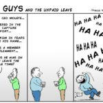Cartoon: Two Guys - and the unpaid leave
