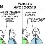 Cartoon - Two Guys and public apologies