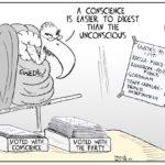 Cartoon - A Conscience vs the Unconscious