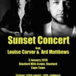 Louise Carver and Ard Matthews Concert at Stanford Hills on 3 January 2018