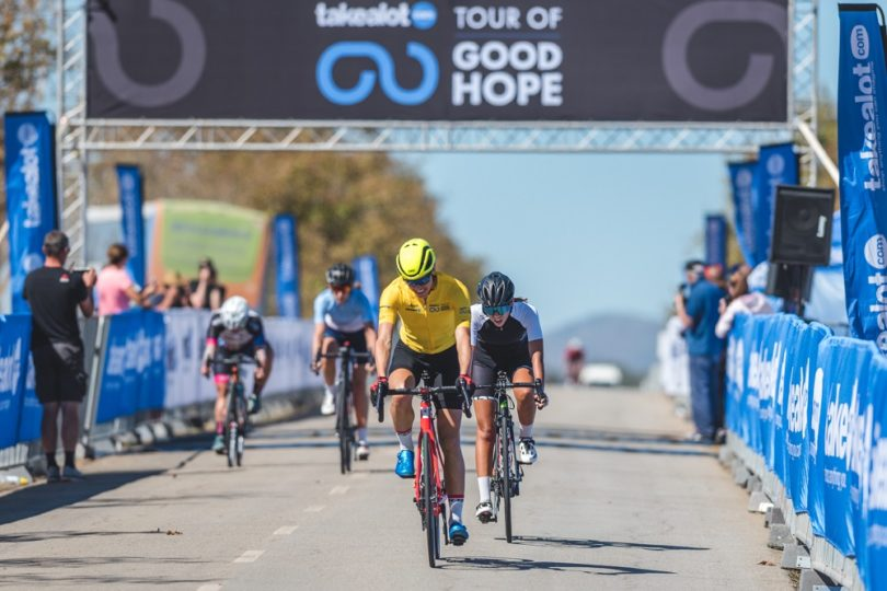 ... Colyn to take second place on the podium in the second stage of 114km  in the women s category of the Takealot Tour of Good Hope road cycle race  ... c8ea8339a
