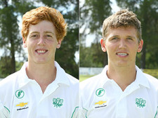 Josh Peters (left) who excelled with the ball for the SWD U/19's versus Border and Ruan Stander (right) who scored a brilliant century (133) for the SWD U/19's versus Border