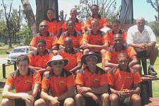 The SWD Emerging team that participated in the Chevrolet Cricket Eastern Cape Triangular tournament the past weekend were: (Back Row): Bradley Carolus, Justin Jordaan, Lyndon Volkwyn, Middle Row: Lervano Nathan, Shane Smith, Christo van Schalkwyk, Wayne Gelant and Bazil Deal – Selector (Second Row): Kurt Fourie, Dumisa Ngqambuza, Bronwill Goeda (Front Row): Gareth Dukes, Merlin Masimela (Coach), Erinn Ewerts (Captain) and Otniel Baartman