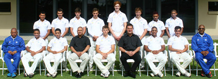 The SWD U/19 team that played against Western Province in the CSA U/19 Three Day competition is:  Back Row: Lance Roelfse, Arno Moolman, Richard Maree, Chris Marrow, Josh Peters, Thomas Marrow, Dillon Moos & Bjorn-Jay Rossouw.  Front Row: Johan Weyers (Coach), Jean Heunis, Luther van der Horst, Rudy Claassen (President SWDCB), Ruan Stander (Captain), Albertus Kennedy (CEO), Larnelle Spies, Stephan Gouws & Jacques van Aswegen