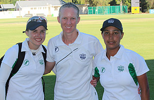 The heroes in the SWD Women's team victories the past weekend against Border and Eastern Province respectively are Bernadine Bezuidenhout (who scored 81* against EP), the captain Annemie Koen (who scored 68* against Border) and Gail Abrahams who excelled with the ball (4/16 against Border and 4/13 against EP).