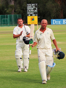 The SWD innings was built around a career best and new SWD first class batting record double century by Adrian McLaren.