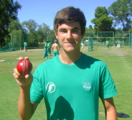A new star on the horizon. Richard Maree who excelled as a pace bowler at the recent CSA U/17 Cricket Week in Cape Town. He picked-up eleven wickets in the tournament and was impressive with the pace he generated.