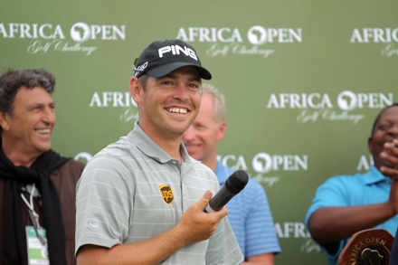 2012 Africa Open winner, Louis Oosthuizen; credit Luke Walker, Sunshine Tour