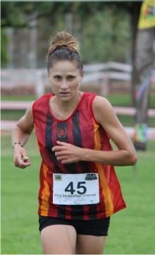 The winner of the Women's category of the SA Marathon Championships, Cornelia Joubert (Gauteng-South).
