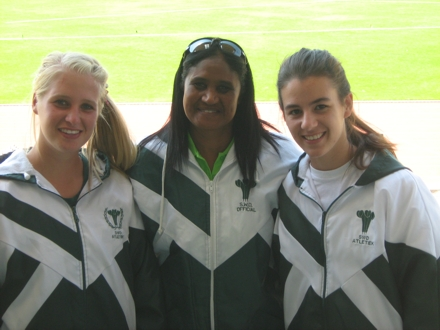 Candice Ludick, Amanda Stripp (ASWD Team Manager) and Anél Oosthuizen