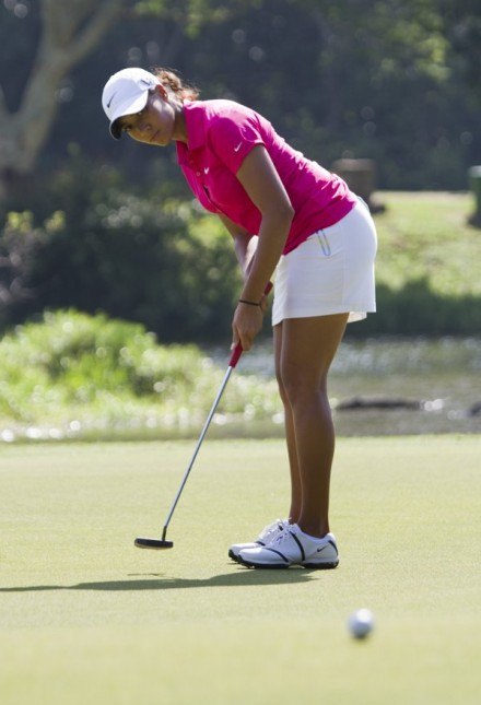 Cheyenne Woods, the niece of Tiger Woods, will be playing in South Africa for the first time in this week's South African Women's Open on the KwaZulu-Natal South Coast. Credit: Rogan Ward.