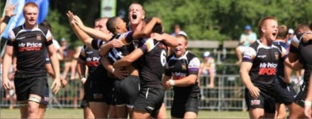 Unbridled joy as the Kwaggas celebrate beating Grey College in Durban earlier this year.