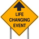 Life Changing Event Ahead Road Sign Isolated