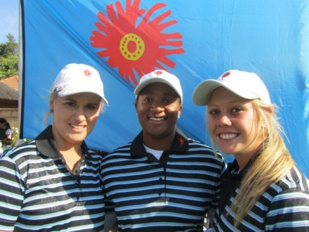 Gauteng North's Eugenie Clack, Nobuhle Dlamini and Crystal Cooper; credit WGSA