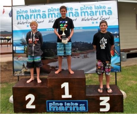 Sport fleet - 1st Georgou Divaris (Sedgefield), 2nd Chad Stevenson (Durban) and 3rd Jethro Brophy-Tintinger (Durban)