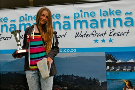 Ashleigh Hellstrom (George) Top girl overall at Selections Regatta and top Pro sail.