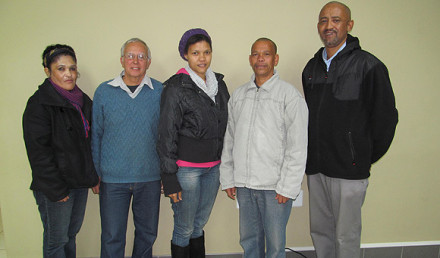 Mr Eric Jacobs (far-right) was re-elected as the Chairperson of the SWD Cricket Scorers Association at their annual general meeting that was held in Oudtshoorn on Friday evening. The rest of the Executive Committee is Genevieve Anthony (Regional representative – Oudtshoorn), Herculus Odendaal (Treasurer), Chrizelda Loff (Secretary) and Roebie Watermeyer (Vice-Chairperson).