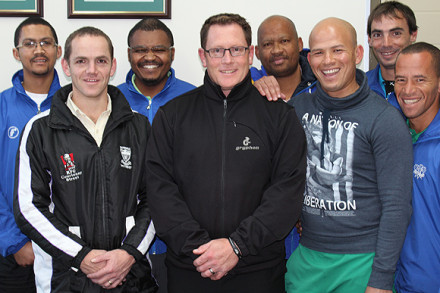 Appointed team managers and coaches during a recent workshop in preparation for the 2013 National cricket tournaments were: Gary Moos (SWD Cricket), Jacques Els (Team Manager SWD u/17's), Luthando Somngesi (Schools Cricket Co-ordinator SWD Cricket), David Pryke (SWD U/15 coach), Marco Paulse ((SWD U/15 team manager), Merlin Masimela (SWD U/15 assistant coach), Wynand de Ridder (SWD U1/3 coach) and Elridge Booysen (SWD U/13 Assistant coach)
