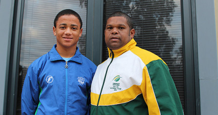 Jean Heunis (left), from Langenhoven Gymnasium, who represented the SA Colts team in 2012, is invited to the CSA U/17 Elite camp that will take place in Pretoria from 28 September – 2 October. On the right is André du Plessis the SWD High Performance coach who is also a CSA National U/17 talent scout.