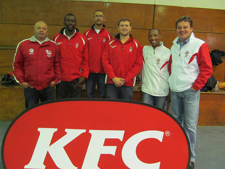 The SWD Cricket Board KFC Mini Cricket provincial seminar was presented in Oudtshoorn on Saturday. Present at the event were Johan Weyers (Amateur Manager CSA), Tich Kulwana (Events Co-ordinator Playmakers), Gary Moos (SWD Cricket Board Mini Cricket Co-ordinator), Andrew Cummings (Marketing Co-ordinator Playmakers), David Makopanela (CSA Youth Cricket Co-ordinator) and Albertus Kennedy (CEO SWD Cricket Board)