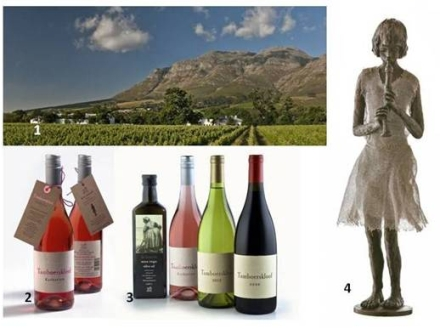 1.       Kleinood 2.       Tamboerskloof Katharien Rosé 3.       The Kleinood Foursome 4.       The image of a little girl playing the clarinet is that of a sculpture her maternal grandmother made of her when she was a little girl.
