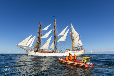 The Tall Ship Europa - Visited by RV Jaytee III off the Knysna in 2013 while she was completing a journey to Australia.