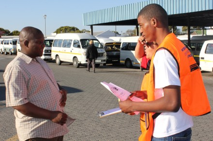 Jason Jansen(right) informs Xolile Nobetha about the importance of support