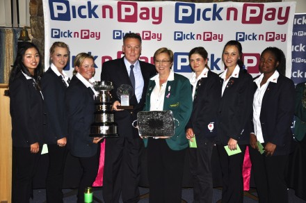 The victorious Gauteng North A team celebrated their seventh successive A Division victory in the Pick n Pay South African Women's Inter-Provincial at Port Elizabeth Golf Club; credit WGSA.