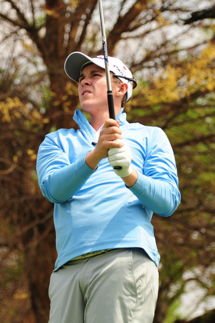 Angus Ellis-Cole is one of three unbeaten players in the Ekurhuleni team, chasing promotion at this year's South African Inter-Provincial at Rustenburg Golf Club; credit Dale Boyce