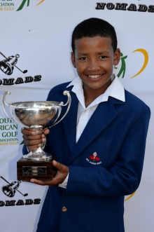 The SAGDB's Tristan Galant won the Nomads Under-13 Championship at Fish River Sun Country Club